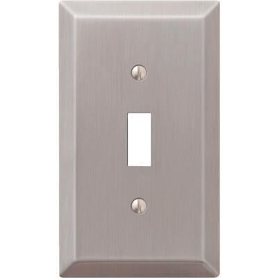 Amerelle 1-Gang Stamped Steel Toggle Switch Wall Plate, Brushed Nickel