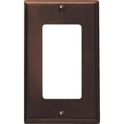 Leviton Decora 1-Gang Smooth Plastic Rocker Decorator Wall Plate, Brown