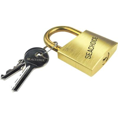 Seachoice 1-1/2 In. Solid Brass Body & Hasp Padlock