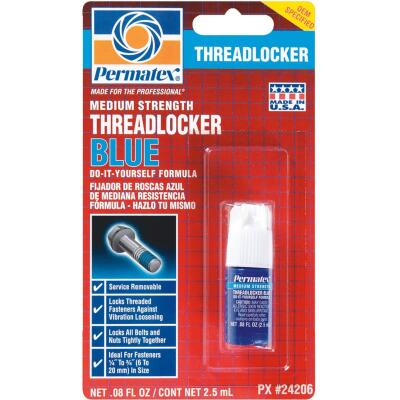 PERMATEX 0.08 Oz. Blue Medium Strength Threadlocker