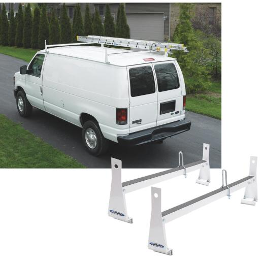 Werner Ladder 600 Lb Capacity White Van Rack