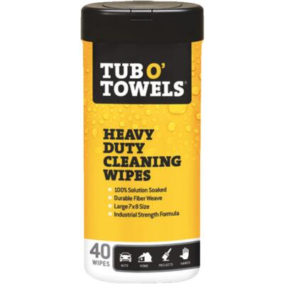 Tub O Towels Heavy Duty Cleaning Wipes (40 Ct.)