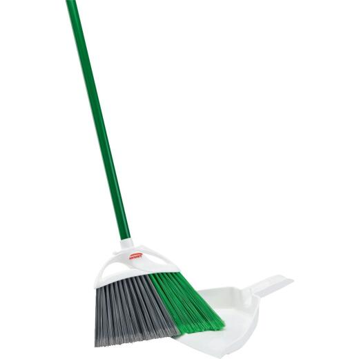 Libman 11 In. W. x 53.5 In. L. Steel Handle Precision Angle Broom with Dustpan