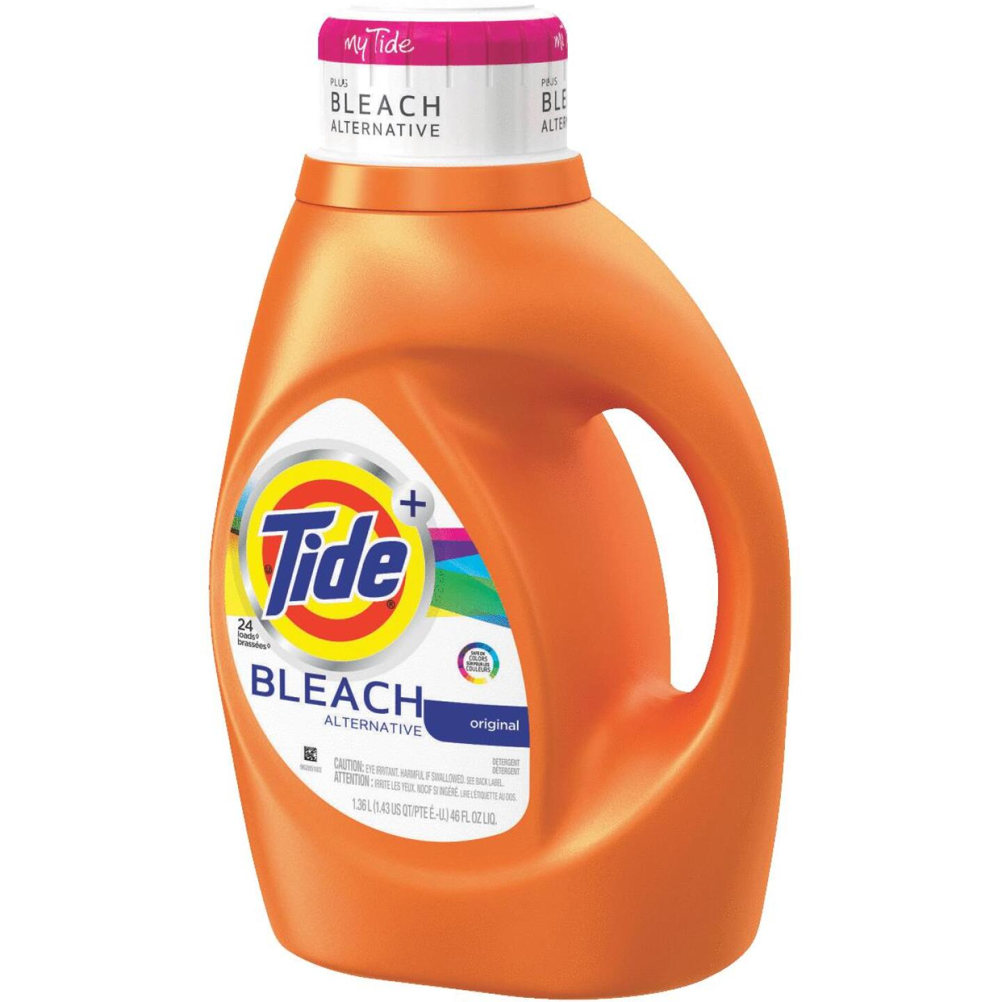 Tide+ 46 Oz. 24 Load Bleach Alternative 2X Liquid Laundry Detergent Image 1