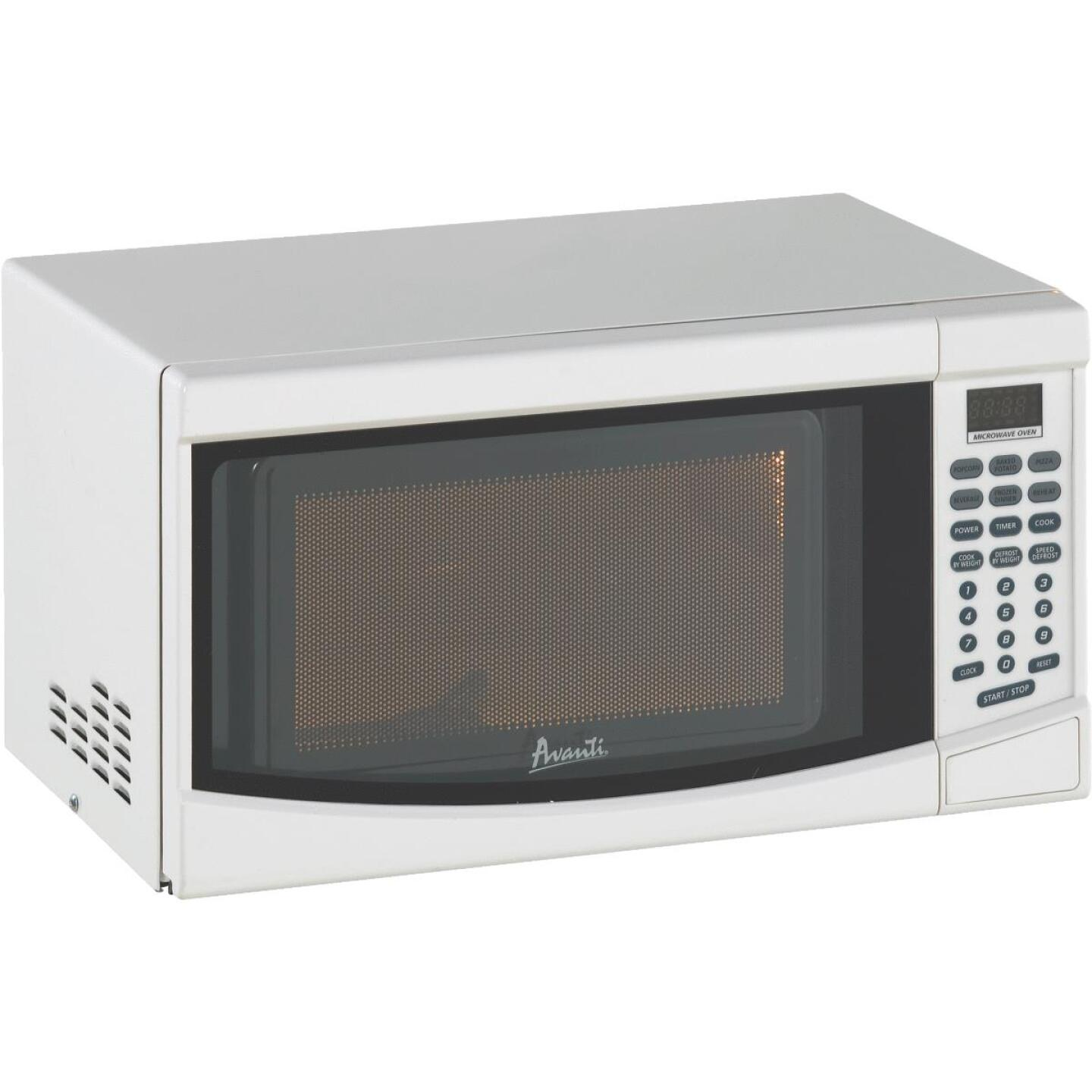 Avanti 0.7 Cu. Ft. White Countertop Microwave Image 1