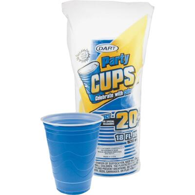 Dart 18 Oz. Blue Plastic Cup (20-Pack)