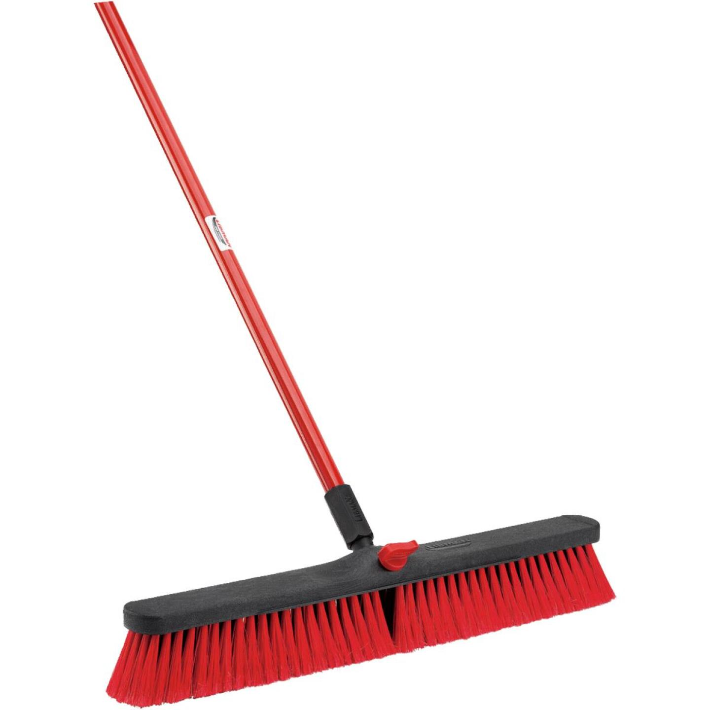 Libman 24 In. W. x 64 In. L. Steel Handle Multi-Surface Medium Sweep Push Broom Image 1