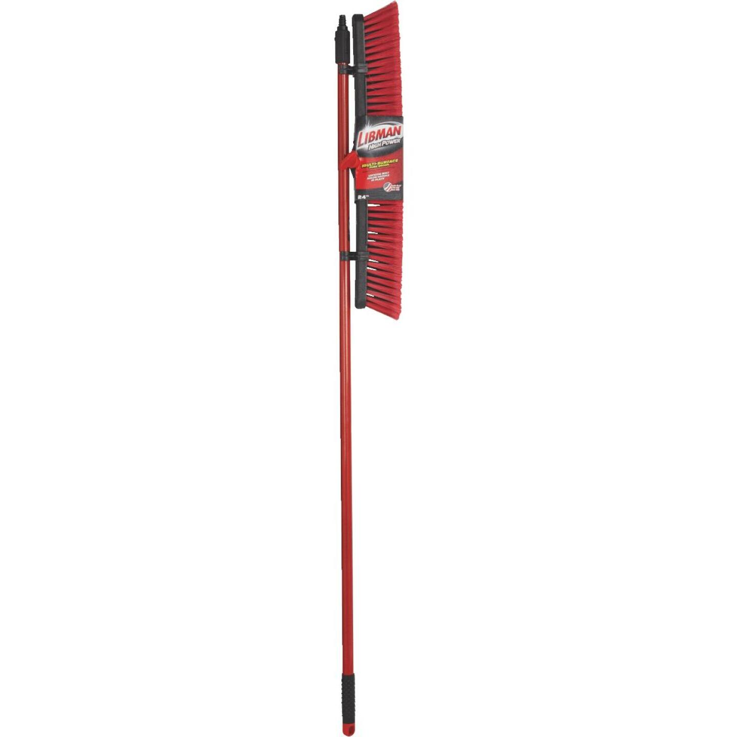 Libman 24 In. W. x 64 In. L. Steel Handle Multi-Surface Medium Sweep Push Broom Image 2