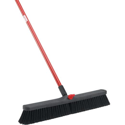 Libman 24 In. W. x 64 In. L. Steel Handle Smooth Surface Push Broom