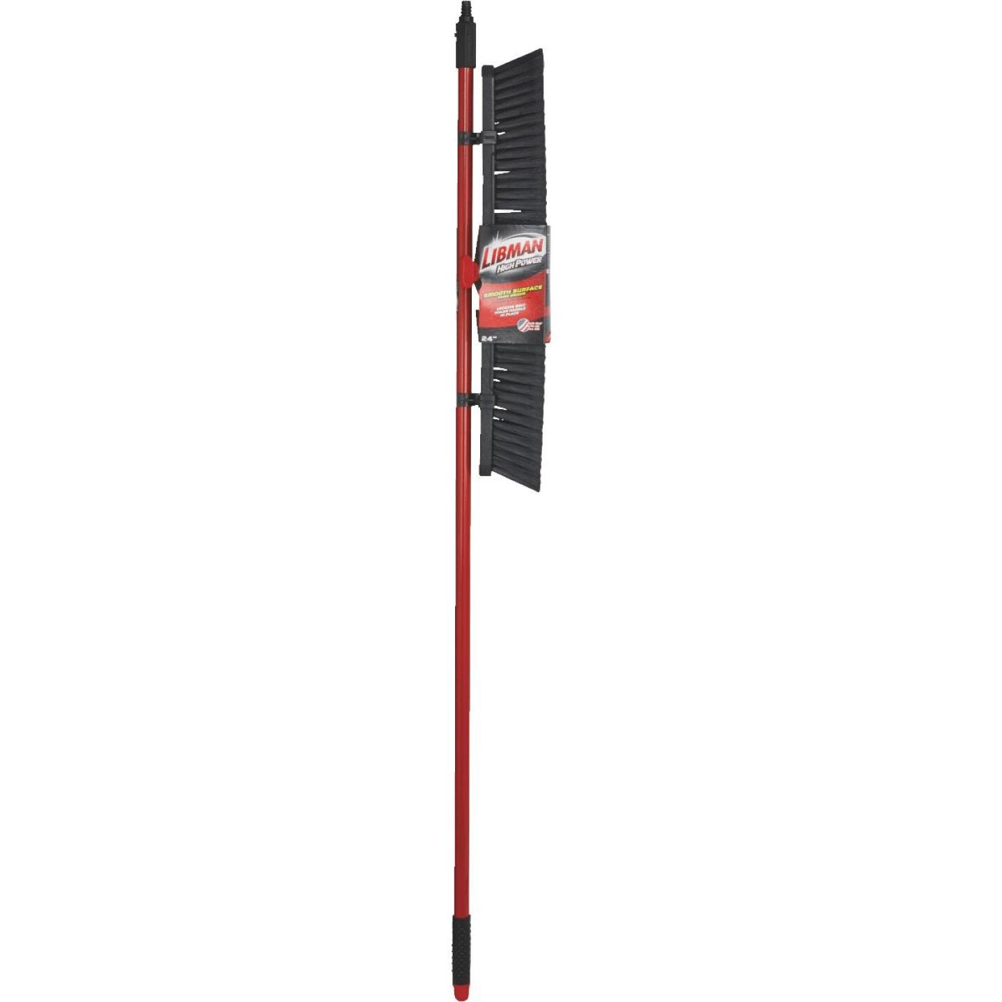 Libman 24 In. W. x 64 In. L. Steel Handle Smooth Surface Push Broom Image 2