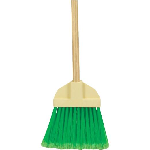 Bruske 9 In. W. x 37 In. L. Wood Handle Flared Lobby Household Broom, Green Bristles