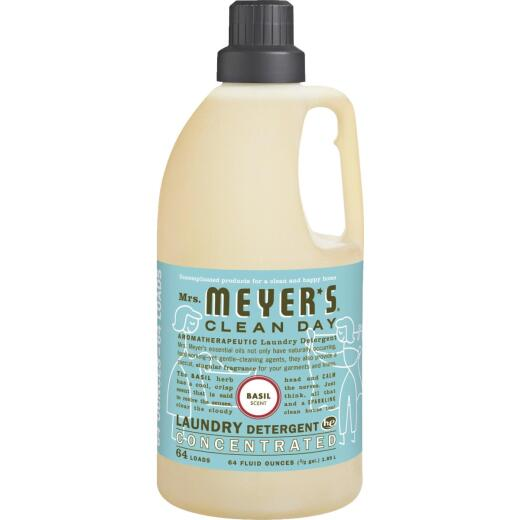Mrs Meyer's Clean Day 64 Oz. Basil Concentrated Laundry Detergent