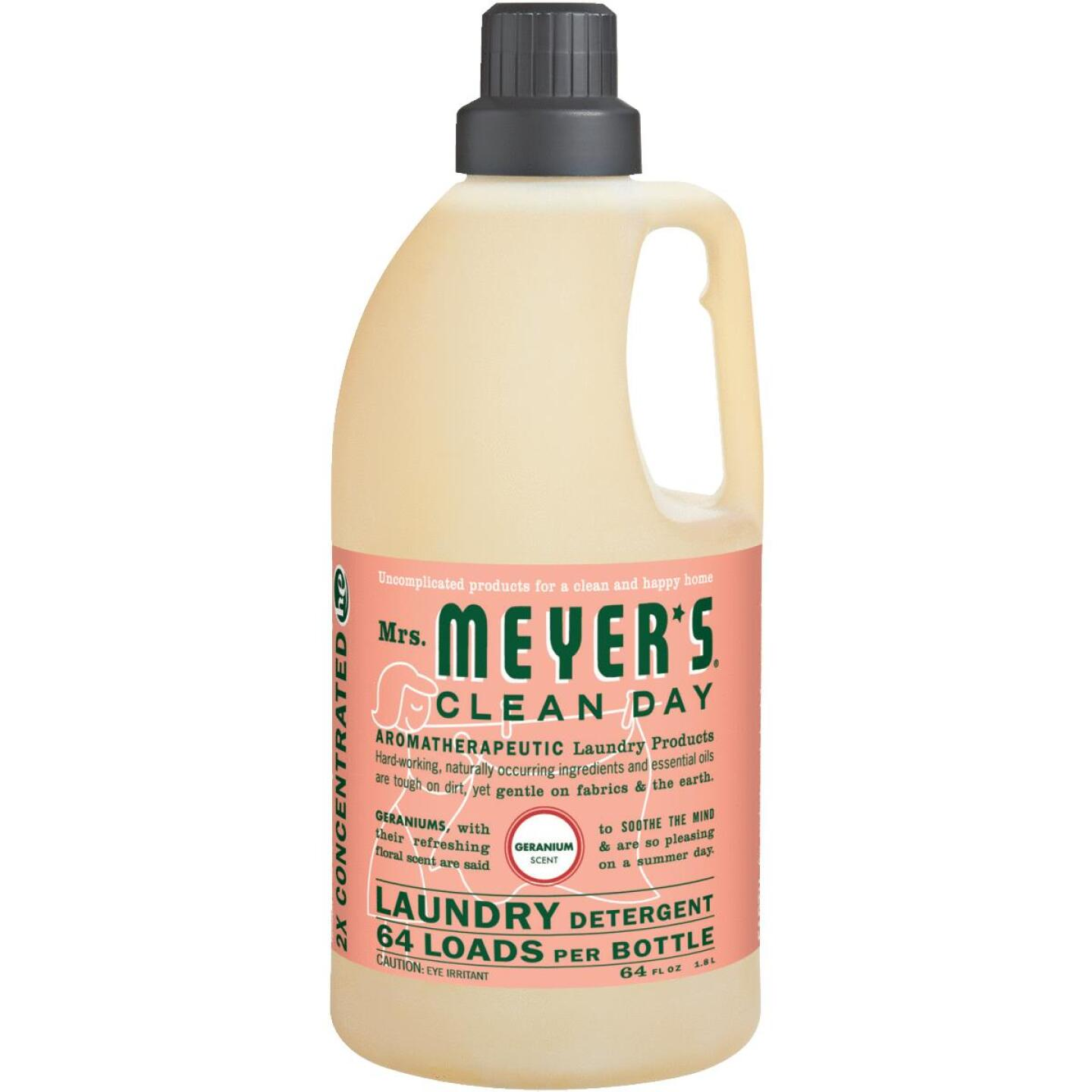 Mrs Meyer's Clean Day 64 Oz. Geranium Concentrated Laundry Detergent Image 1