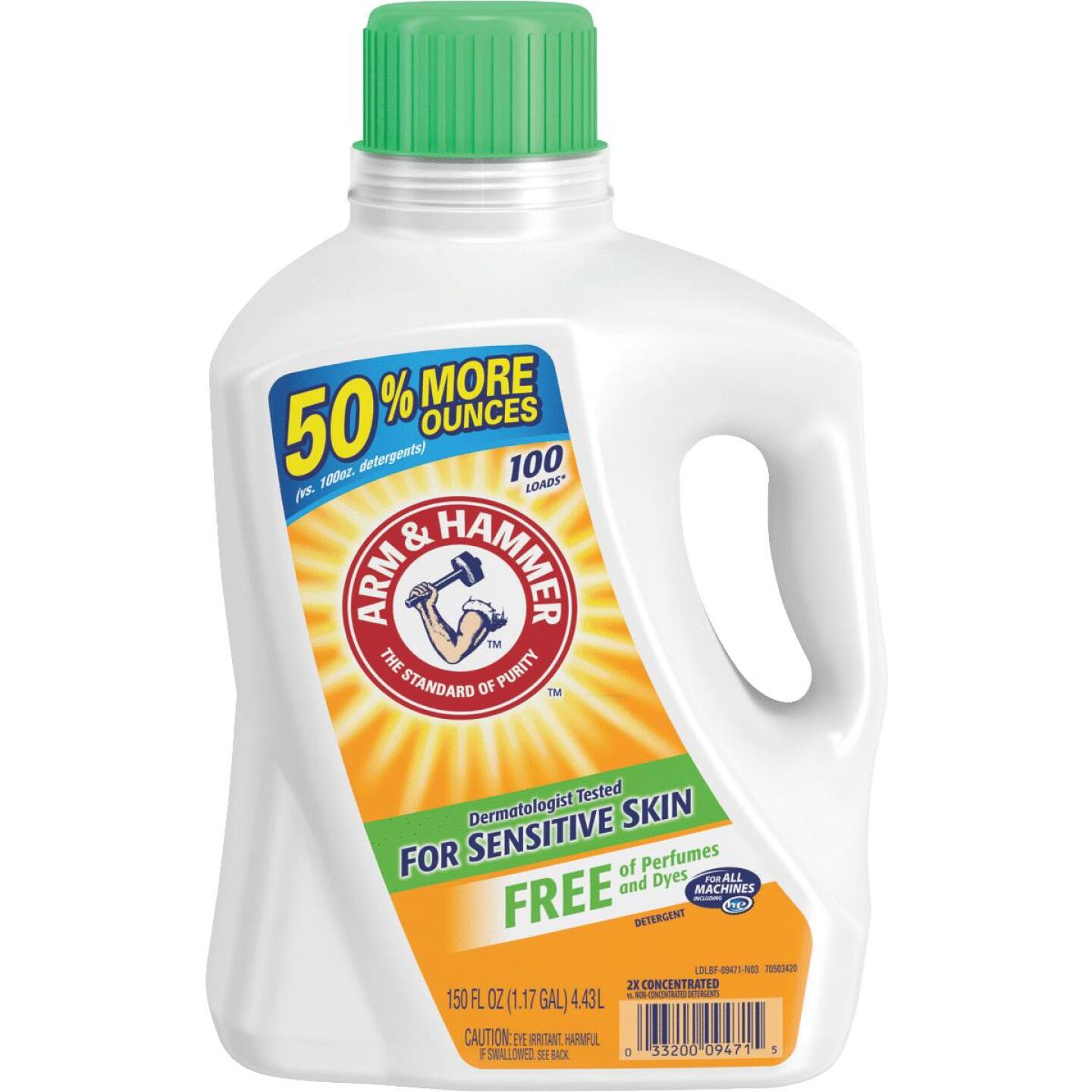 Arm & Hammer 150 Oz. 100 Load Sensitive Skin Liquid Laundry Detergent Image 1