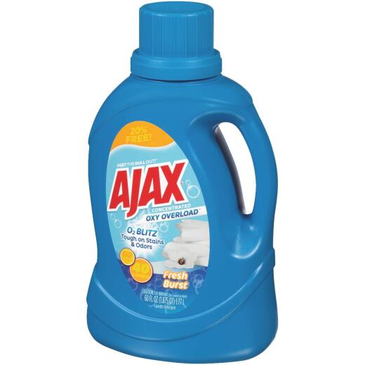 Ajax Oxy Overload 60 Oz. 40 Load Fresh Burst Liquid Laundry Detergent