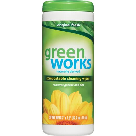 30CT GREEN WORKS WIPES