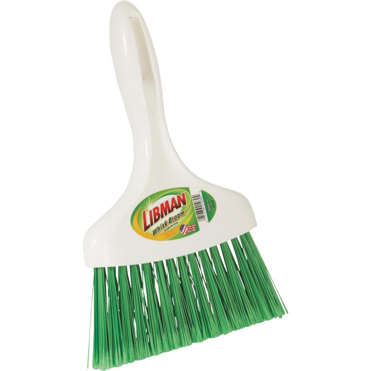 Libman 8 In. Poly Whisk Broom, Green Bristles Image 1
