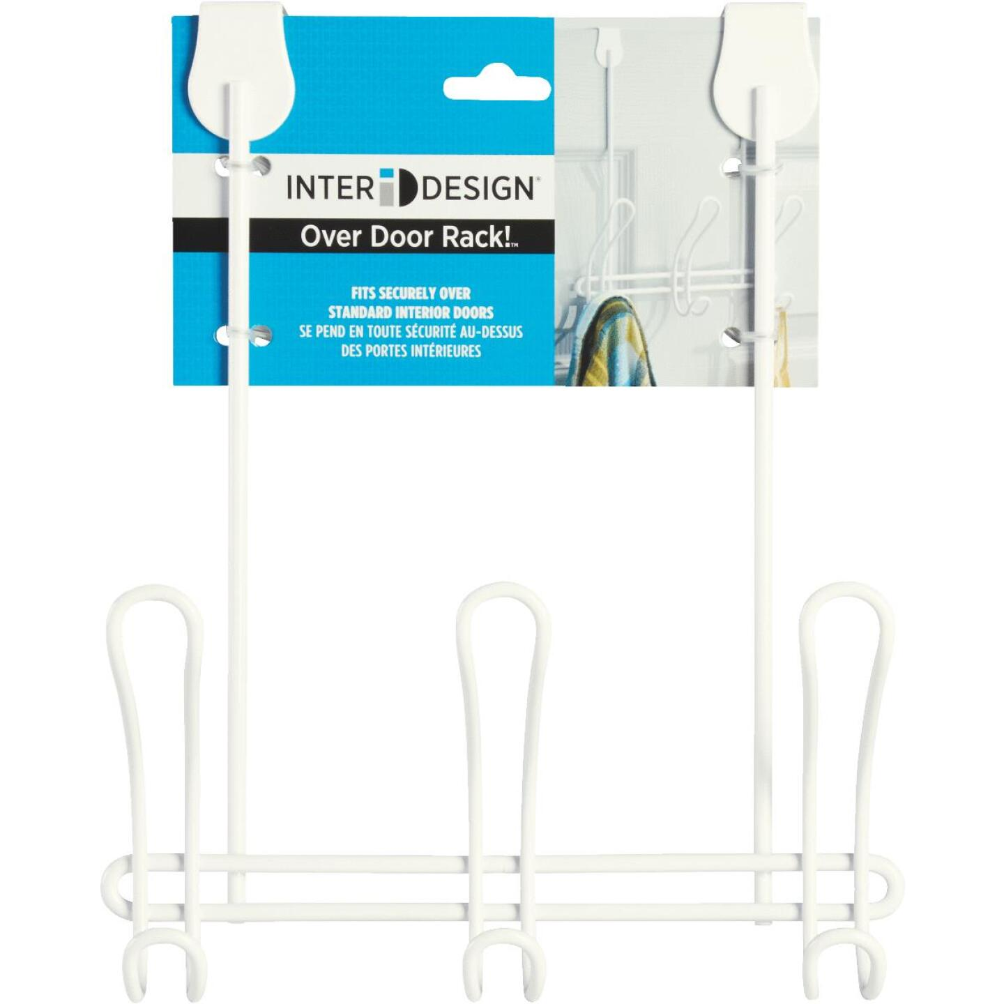 iDesign Classico Over-The-Door White 3-Hook Rail Image 2