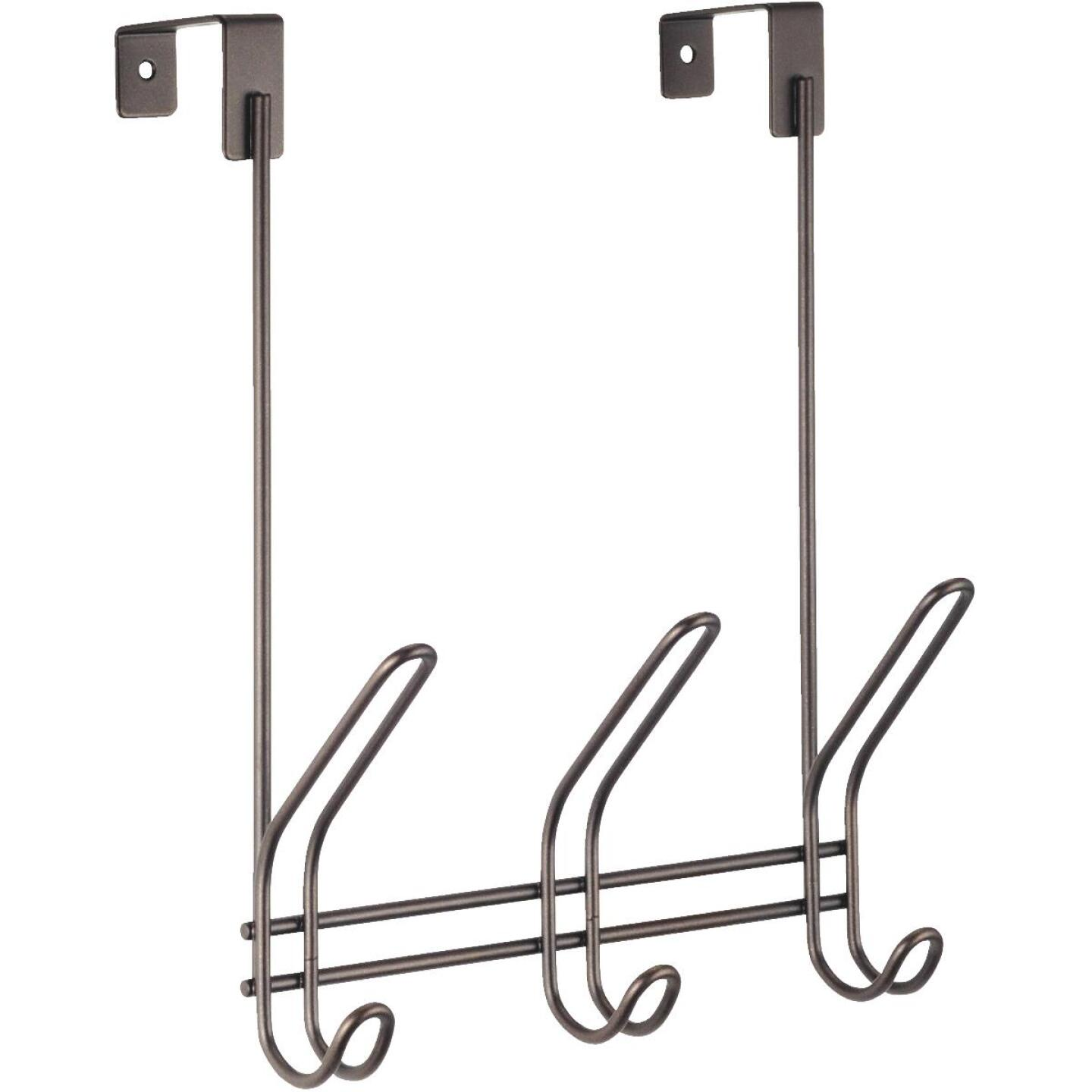 iDesign Classico Over-The-Door Bronze 3-Hook Rail Image 1