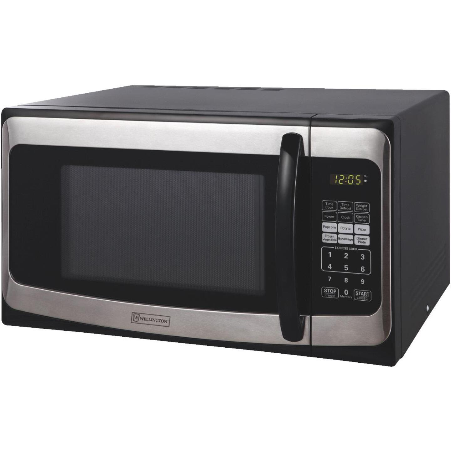 Perfect Aire 1.1 Cu. Ft. Black Countertop Microwave Image 1