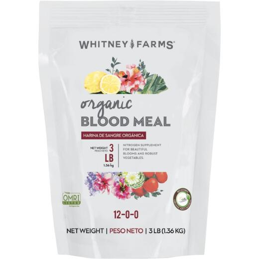 Whitney Farms 3 lb. Natural Blood Meal Plant Food