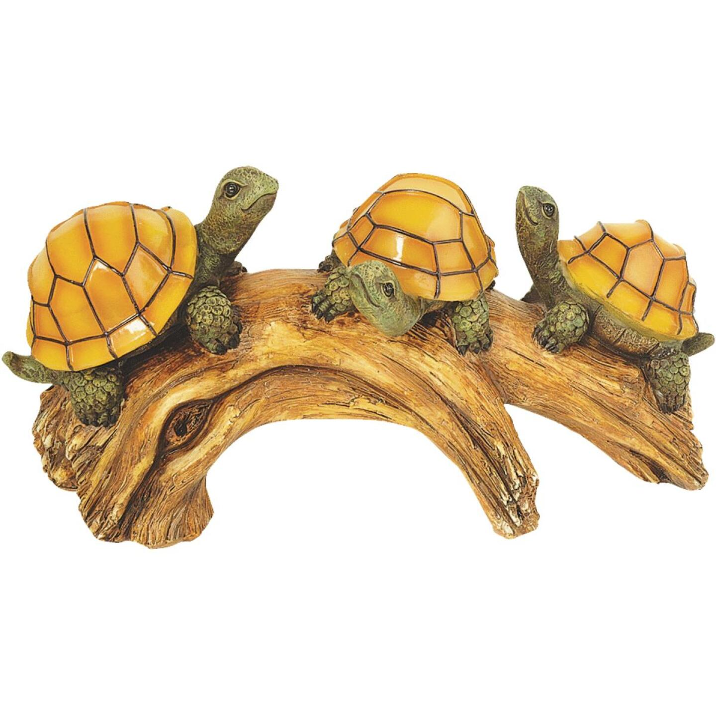 Moonrays Solar Turtle Lighted Garden Ornament Image 1