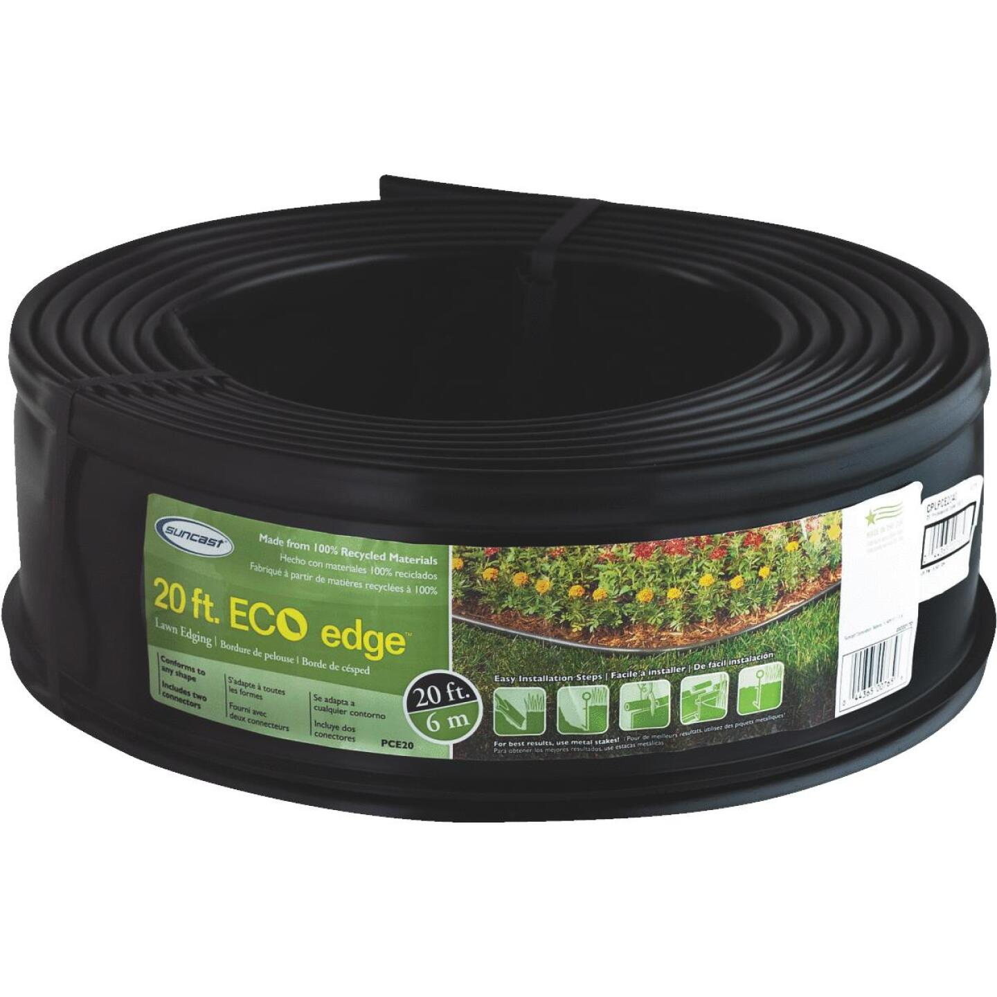 Suncast 5 In. H. x 20 Ft. L. Black Recycled Plastic Lawn Edging Image 1