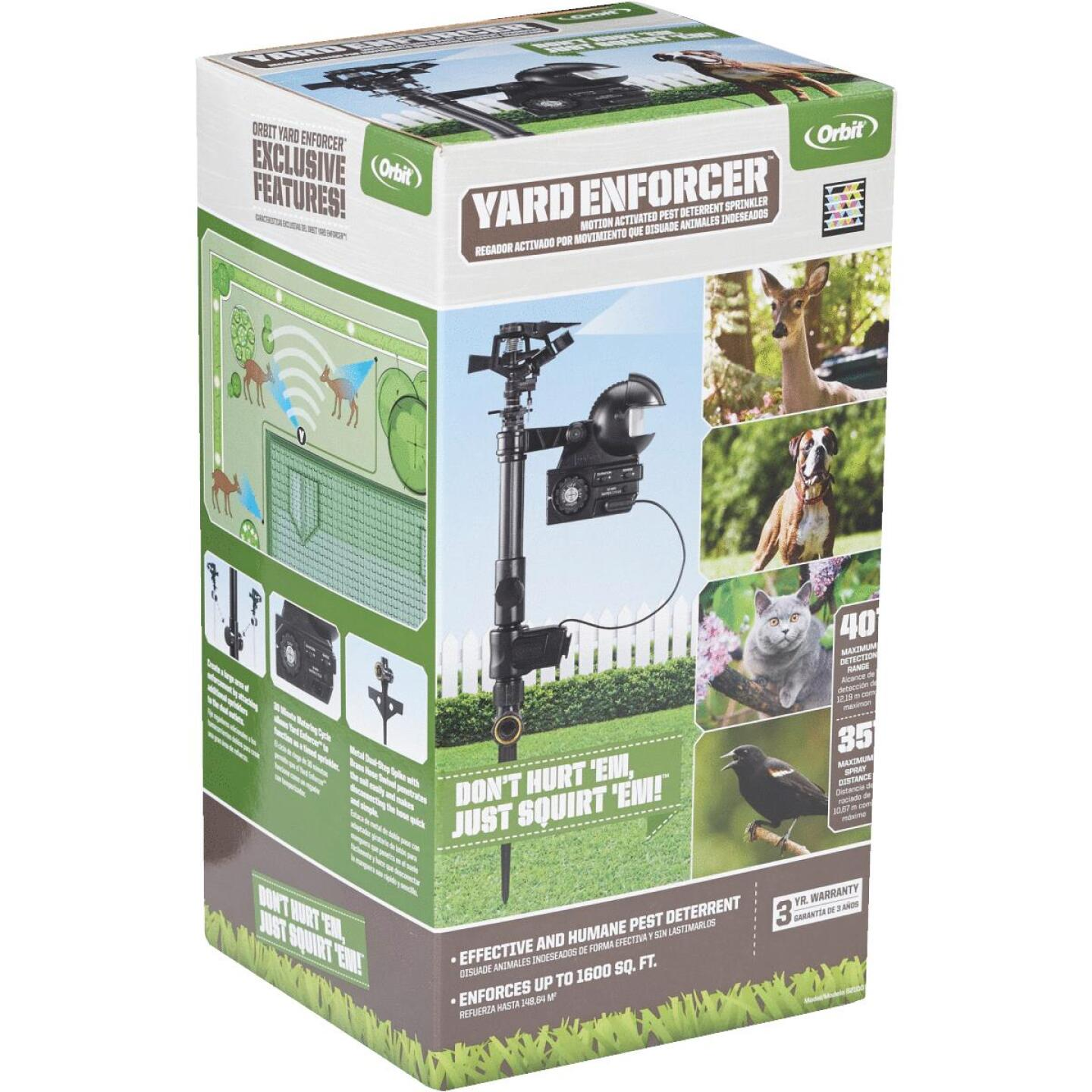 Orbit Yard Enforcer Motion Activated 1600 Sq. Ft. Coverage Electronic Pest Repellent Image 4