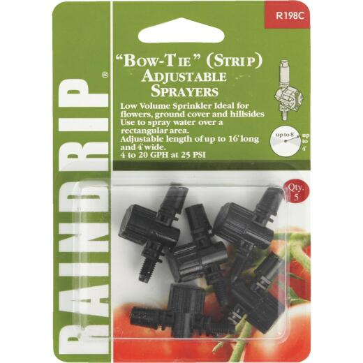 Raindrip Bow Tie Adjustable Sprinkler Head Sprayer (5-Pack)