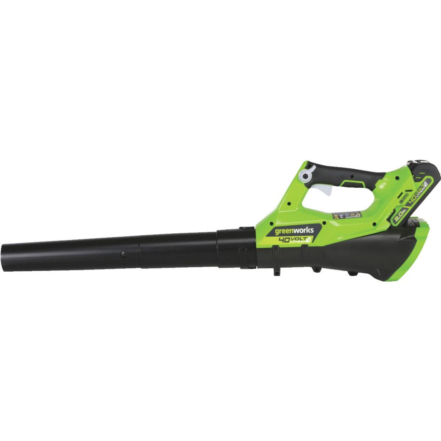 Greenworks G-Max 100 MPH 40V Axial Brushless Lithium Ion Cordless Blower Image 1