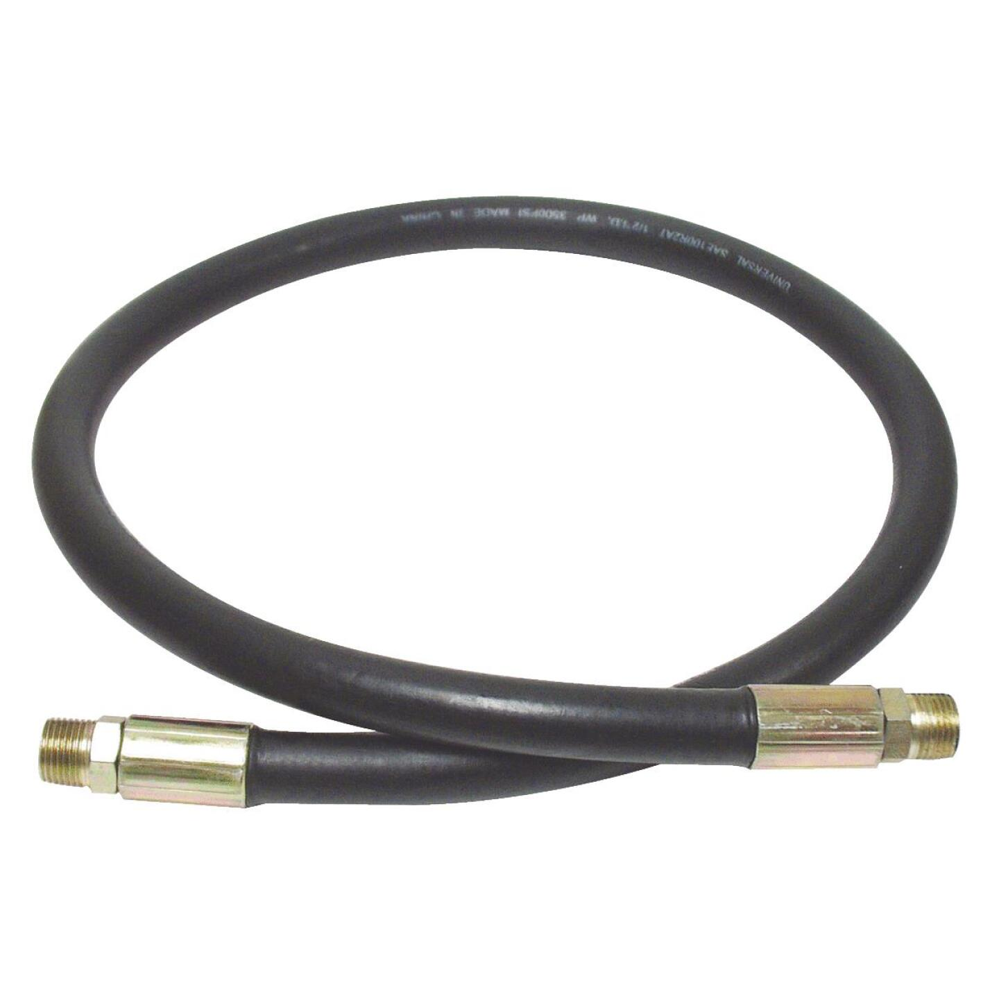 Apache 3/8 In. x 24 In. Male to Male Hydraulic Hose Image 1