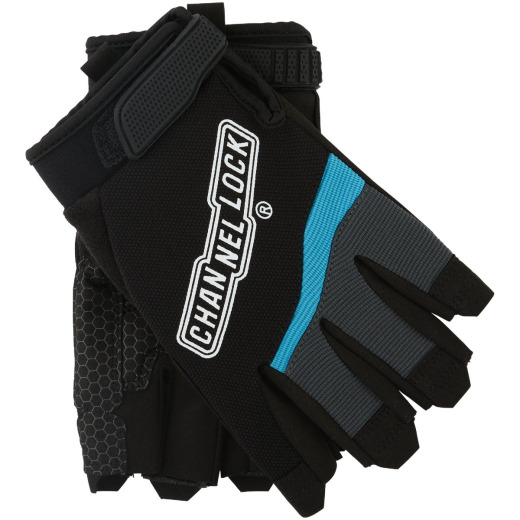 Channellock Men's XL Synthetic Fingerless Work Glove