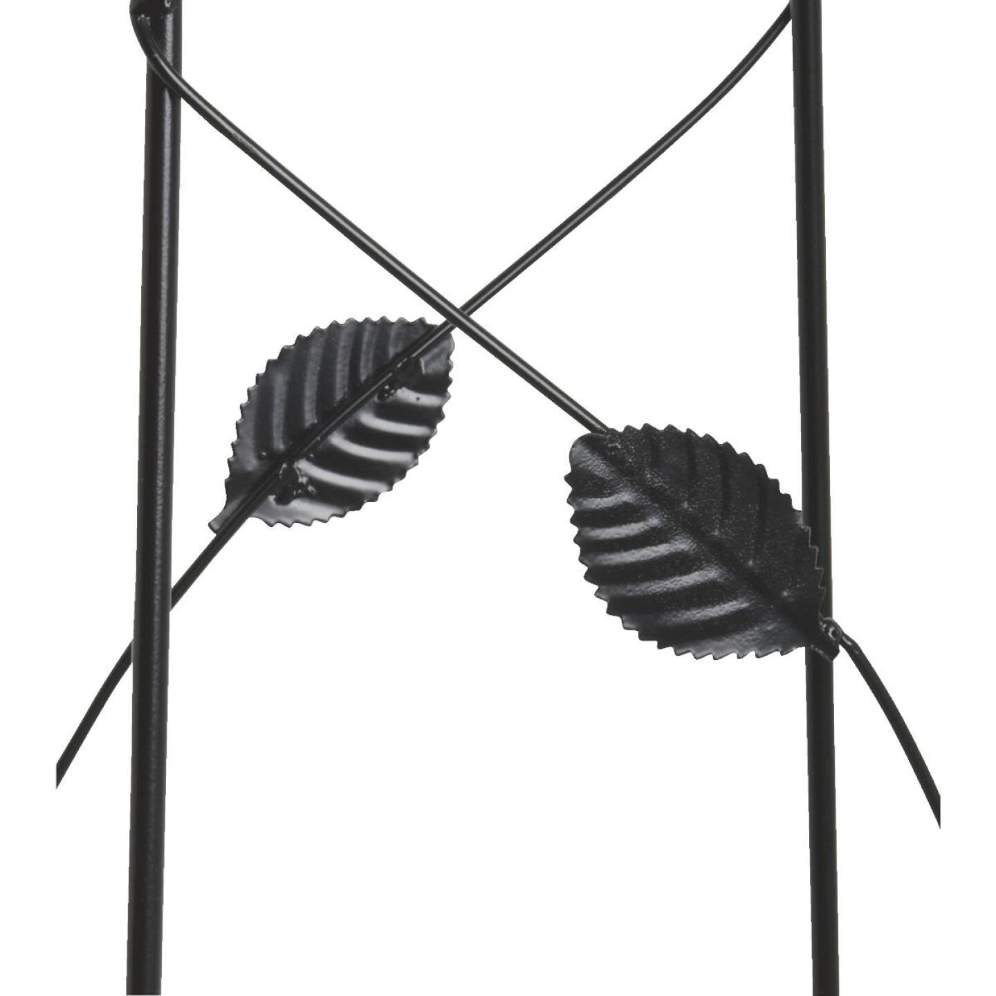 Best Garden 60 In. Black Metal Leaf Obelisk Image 2