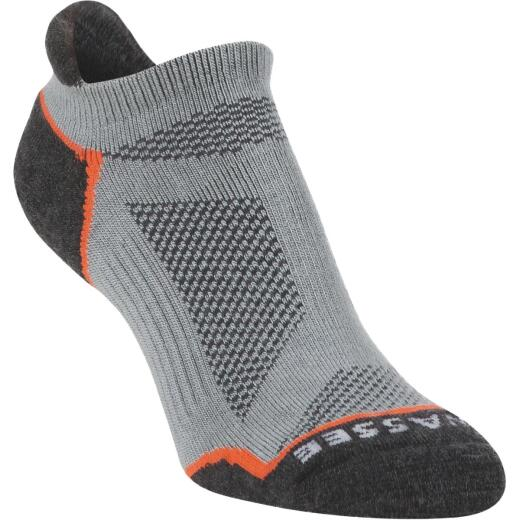 Hiwassee Trading Company Large Gray Lightweight Running No Show Sock