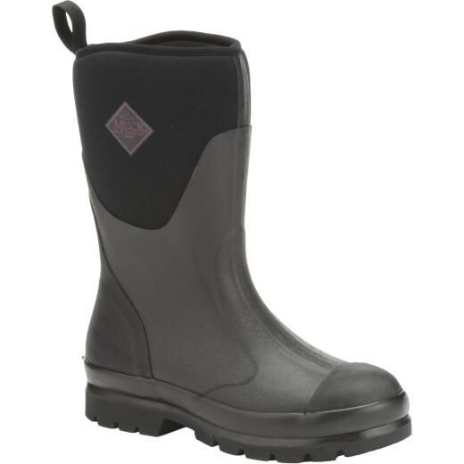 Muck Chore Mid Women's Size 11 Black Rubber Pull-On Boot