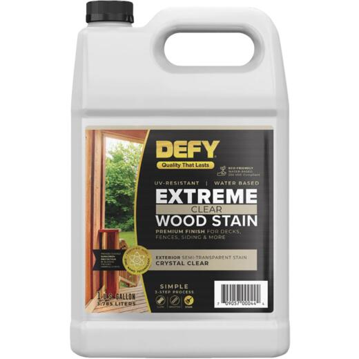 DEFY Extreme Transparent Exterior Wood Stain, Crystal Clear, 1 Gal. Bottle