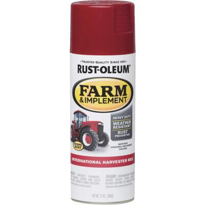 Rust-Oleum 12 Oz. International Harvester Red Farm & Implement Spray Paint