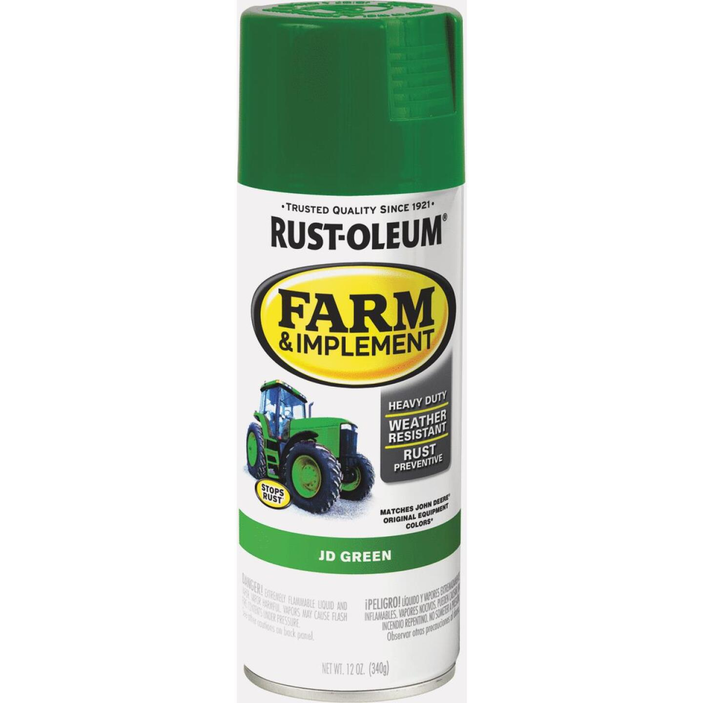 Rust-Oleum 12 Oz. JD Green Farm & Implement Spray Paint Image 1