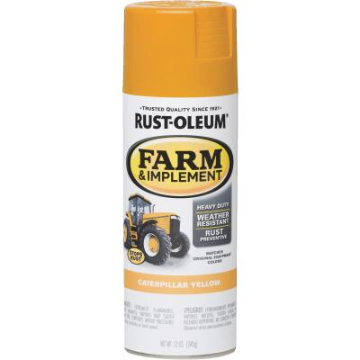 Rust-Oleum 12 Oz. Caterpillar Yellow Farm & Implement Spray Paint