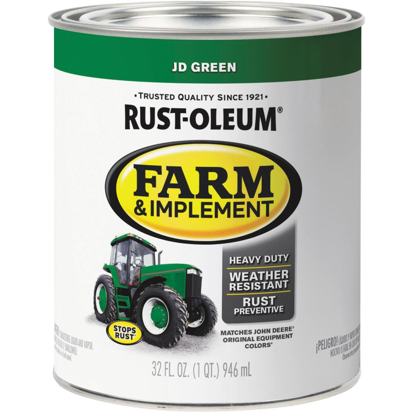 Rust-Oleum 1 Quart JD Green Gloss Farm & Implement Enamel Image 1