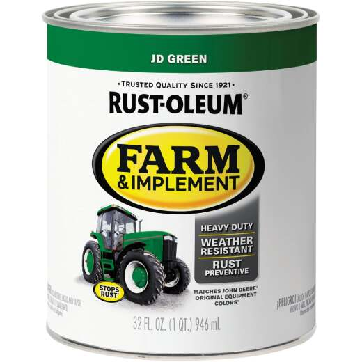 Rust-Oleum 1 Quart JD Green Gloss Farm & Implement Enamel