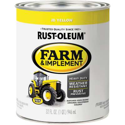 Rust-Oleum 1 Quart JD Yellow Gloss Farm & Implement Enamel