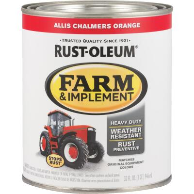 Rust-Oleum 1 Quart Allis Chalmers Orange Gloss Farm & Implement Enamel