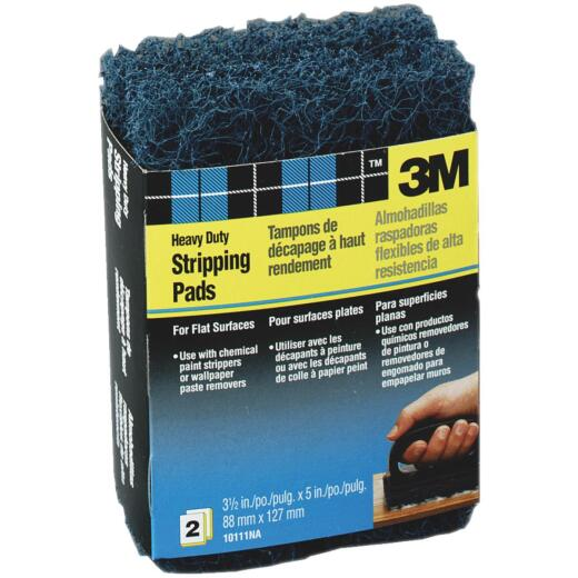 3M 3-1/2 In. x 5 In. Heavy-Duty Paint Stripping Pad (2 Count)