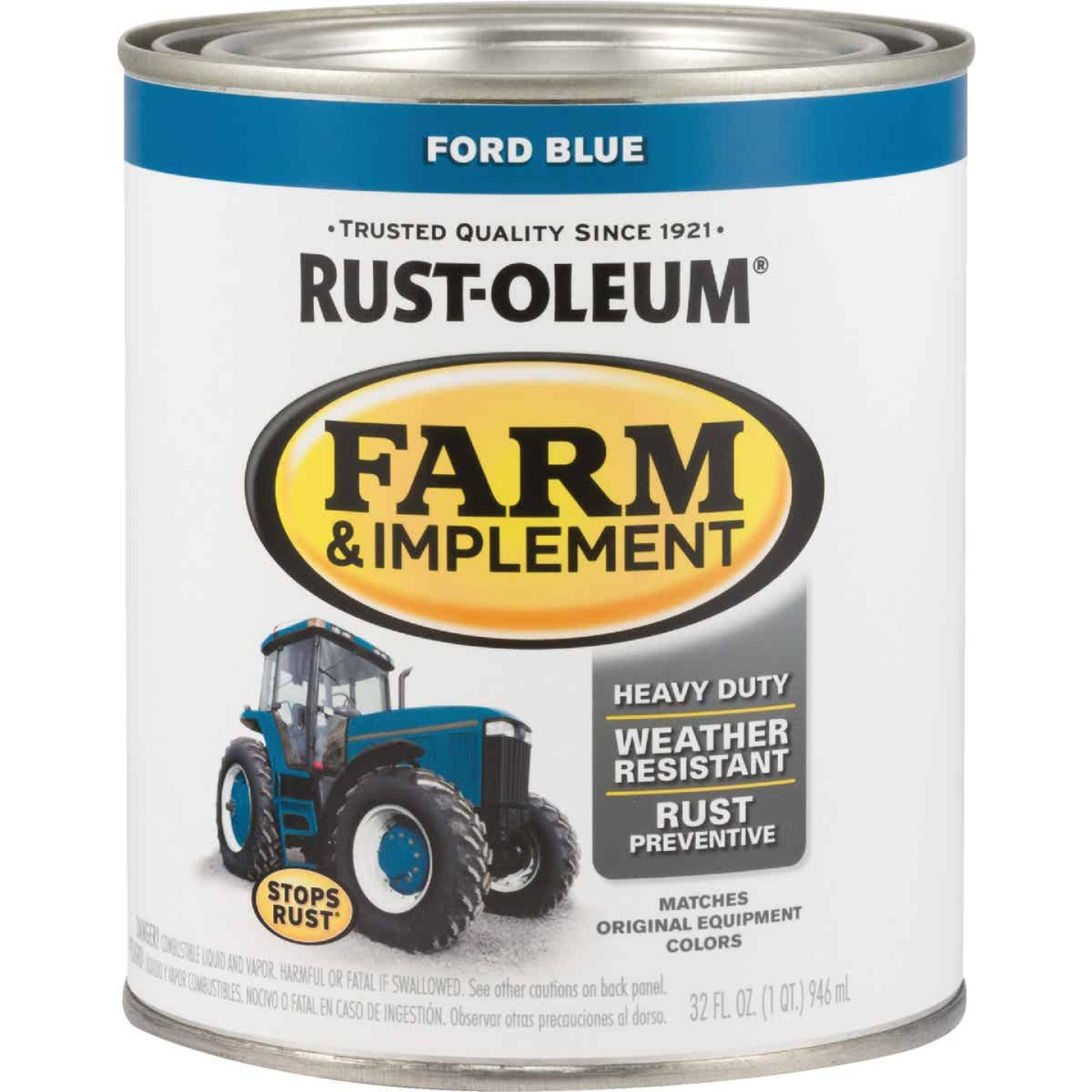 Rust-Oleum 1 Quart Ford Blue Gloss Farm & Implement Enamel Image 1