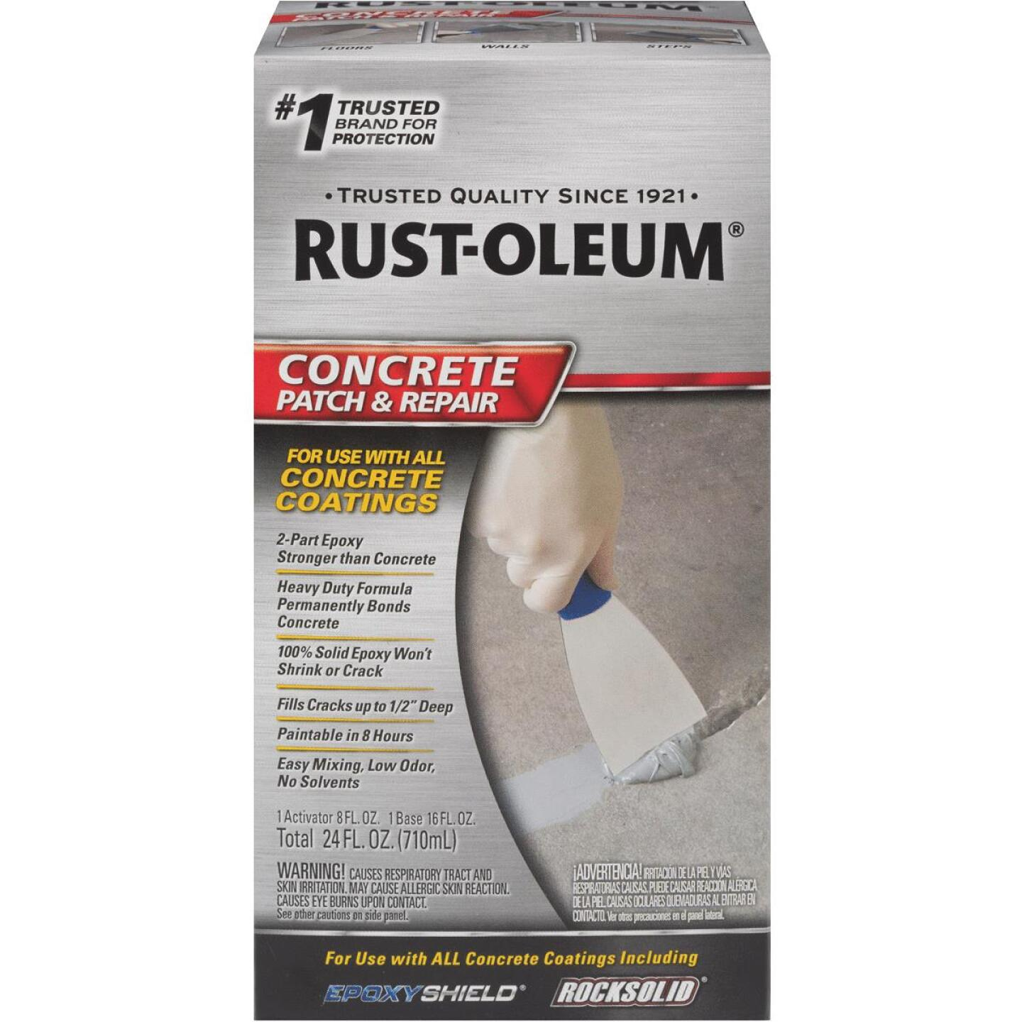 Rust-Oleum Concrete Patch & Repair Kit, Gray, 24 Oz. Image 1