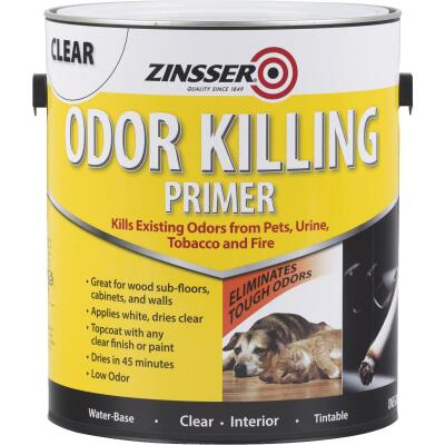 Zinsser Odor Killing Water-Based Interior Primer, White To Clear, 1 Gal.