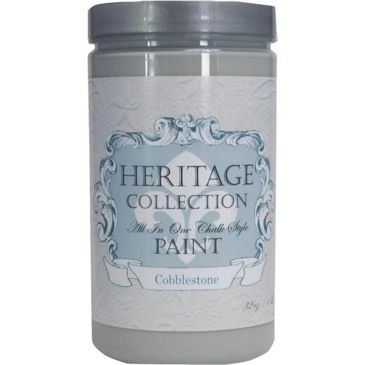 Heirloom Traditions Heritage Collection All-In-One Chalk Style Paint, Cobblestone, 1 Qt.