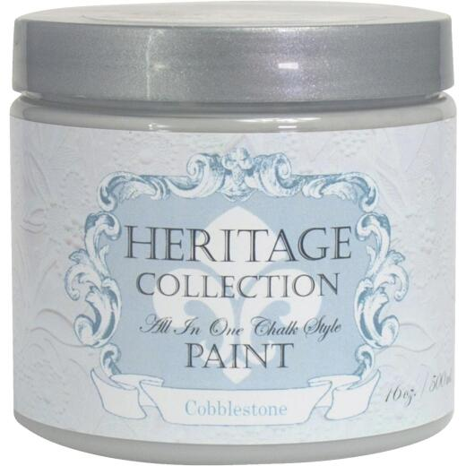 Heirloom Traditions Heritage Collection All-In-One Chalk Style Paint, Cobblestone, 1 Pt.