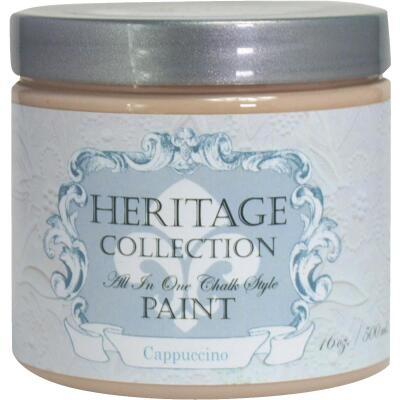 Heirloom Traditions Heritage Collection All-In-One Chalk Style Paint, Cappuccino, 1 Pt.